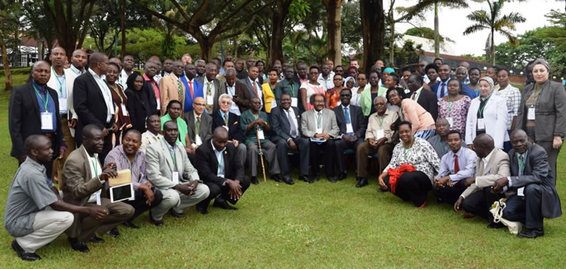 Participants of the 1st Nile Basin Discourse Summit on Collaboration in River Basins Management Policies and Practices - Entebbe Nov. 2017