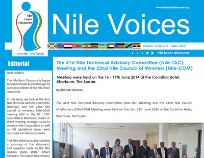 The 41st Nile Technical Advisory Committee (Nile-TAC) Meeting - Nile Voices: Volume 31 | Issue 1