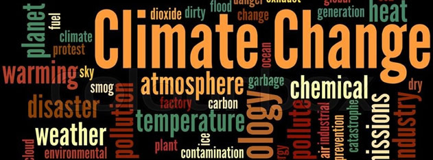 Climate Change Key-Words Cloud. Courtesy colourbox.com
