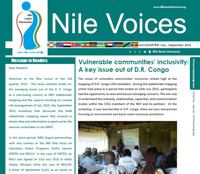 Vulnerable communities' inclusivity: A key issue out of D.R. Congo - Nile Voices, 3rd Release 2015